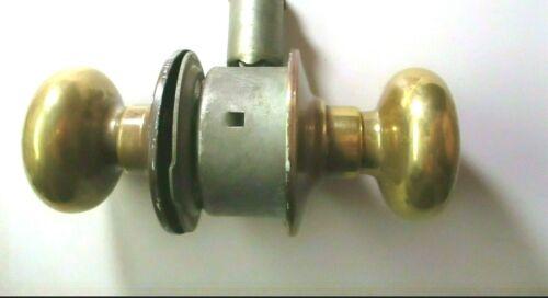 Schlage M45 1950s Passage Knob Set Aged Dark Brass Reversible Cylindrical Latch