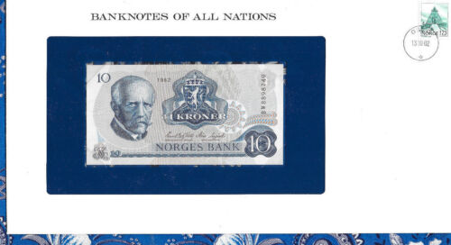 Banknotes of All Nations Norway 10 Kroner 1982 P 36c UNC Prefix BW