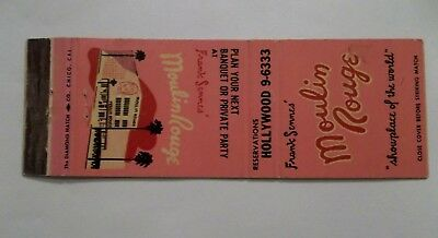 MOULIN ROUGE PINK MATCHBOOK COVER ~ HOLLYWOOD CA - Moulin Rouge Pink