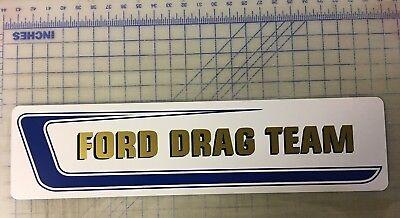 """Ford,Drag, Team,White Alum.Sign,6""""x24"""""""