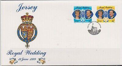 GB - JERSEY 1999 Royal Wedding Pr Edward and Miss Rhys-Jones SG 903/4 FDC ROYALTY
