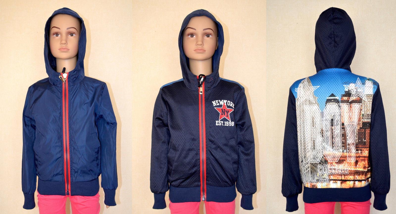 Kinder leichte Jacke für Junge/Regenjacke/doppelseitig Jacke 98/104