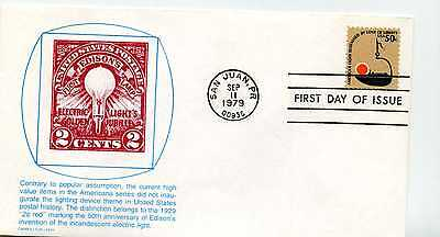 1608 50c Betty Lamp, Americana series, Carrollton FDC