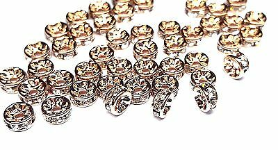 (Preciosa MAXIMA Czech Crystal & Rose Gold 4.5x2mm Rondelle Beads - Package of 10)
