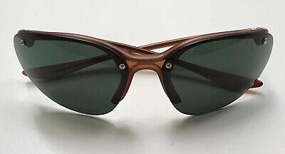 PRADA Vintage Sonnenbrille SPR86A, Cateye Sunglasses Damen Halbrand, Gläser grau