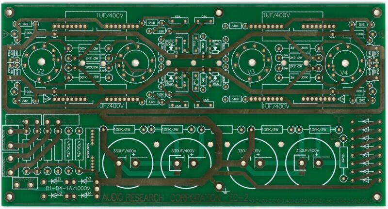 Tube electronic 2-way crossover based on EC-2 premium grade PCB !