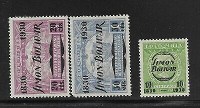 Colombia 1930 Good airmail set Very Fine MH stamps (Q2)