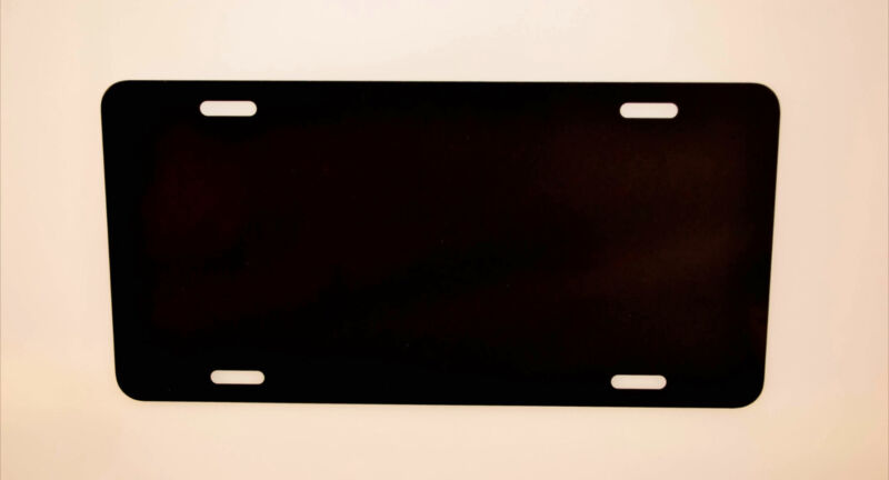 "100pcs .024 6"" X 12"" Gloss Black Aluminum License Plates/ Car Tags Blanks"