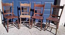 Set of 4 Original Spindle Backed Oak Chairs Taringa Brisbane South West Preview