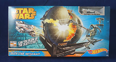 Hot Wheels Star Wars Death Star Battle Blast Track Set  *New/Sealed*