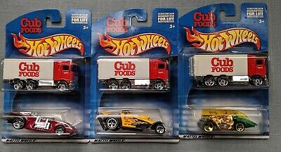 LOT OF 3 DIFFERENT 2000 HOT WHEELS HIWAY HAULERS CUB FOODS  EXCLUSIVE 2-PACK