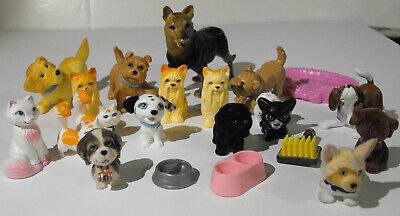 Barbie pets and other animals LOT cats, dogs, puppies, Shepherd 22 piece set