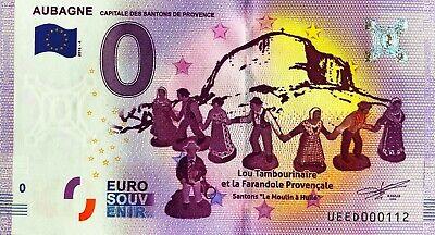Euro Krippe (Geldschein 0 Null Euro Souvenir Aubagne die Krippenfigur Provence 2016-4 Nr.)