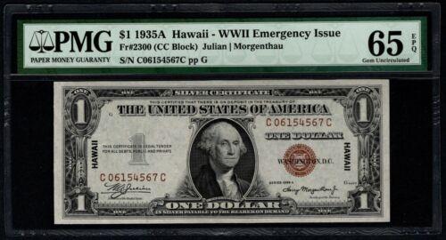 1935A $1 Hawaii Silver Certificate PMG 65 EPQ Fr.2300 Item #8056568-025
