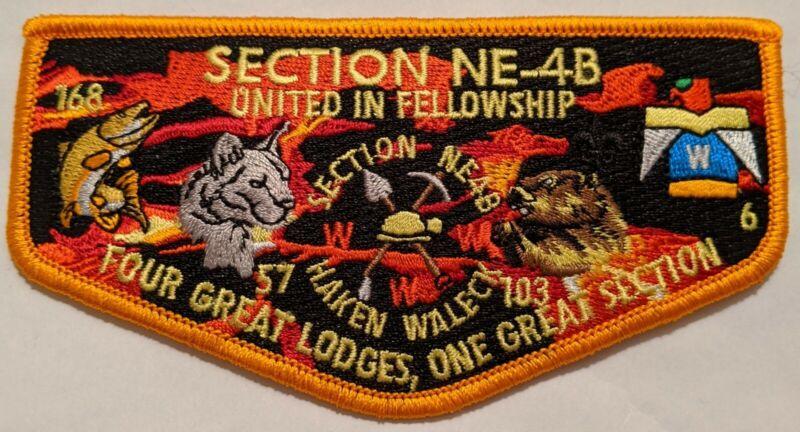 Section NE-4B OA Flap United inFellowship Northeast Region OA Order of the Arrow