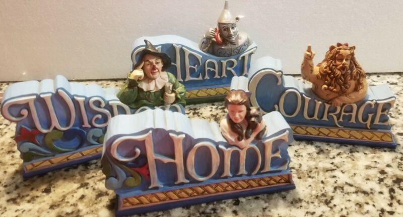 Jim Shore Wizard of Oz Plaques set of 4 ~ No  Boxes~ Home Courage Heart Wisdon