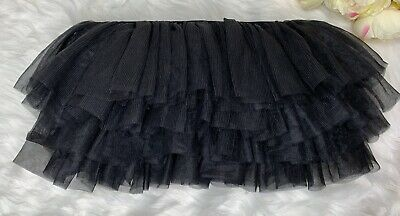 Adult Women One Size FLUFFY TUTU BLACK Costume Spirit Week - Spirit Halloween Black Tutu