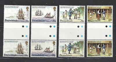 PITCAIRN ISLANDS - 225-228 - GUTTER PRS -MNH -1983 -175TH ANN - DISC OF SETTLERS