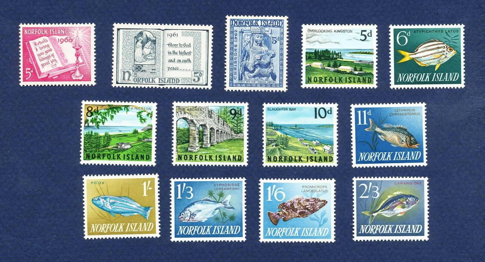 NORFOLK ISLAND - 43-45 49-60 - VF, Most Are MNH Including The High Values  - $9.97