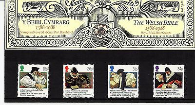 1988 GB QEII ROYAL MAIL COMMEMORATIVE PRESENTATION PACK NO 188 THE WELSH BIBLE