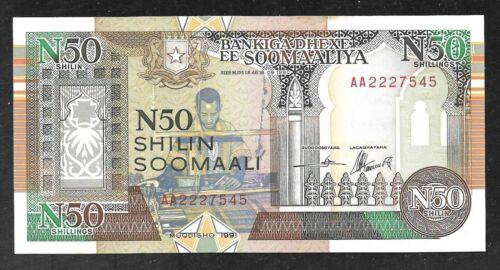 Somalia - No. Region - N50 Shilin Note - 1991 - R2 - Uncirculated