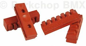 Kool Stop bicycle brake pads refills inserts Weinmann 7 Dot  (SET OF 4) SALMON