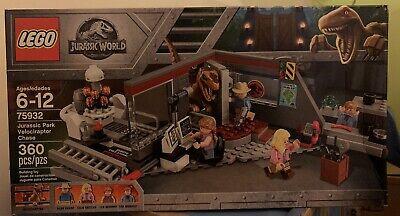 Retired Lego Jurassic World Set 75932 Jurassic Park Velociraptor Chase New