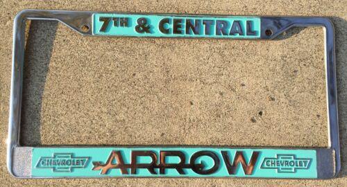 Los Angeles California Arrow Chevrolet Vintage GM Dealer License Plate Frame
