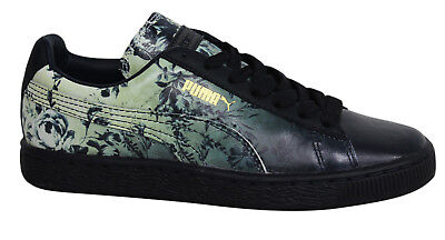 Puma Basket Classic House Of Hackney Black Leather Mens Trainers 357819 01 B13D