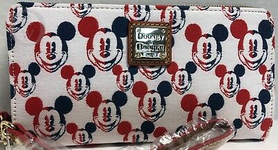 NWT*Dooney & Bourke*Disney*Mickey Mouse Americana Wallet* 18220H S176
