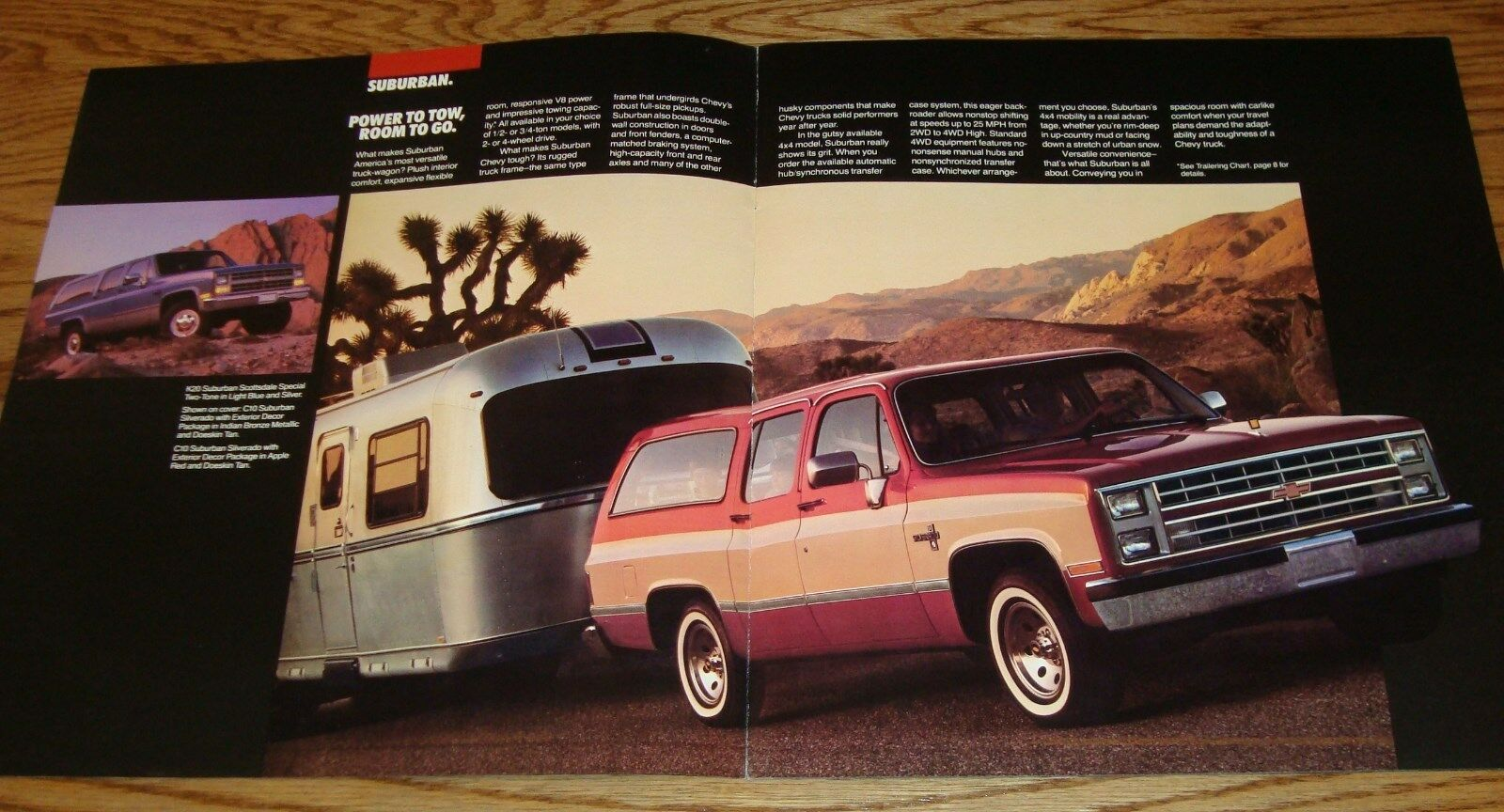 Original 1985 Chevrolet Truck Suburban Sales Brochure 85 Chevy 1961 4x4 2 Of See More