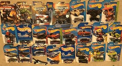 Hot Wheels Treasure Hunt Lot 24 SWAT 67 Camaro Batmobile Monster Jam Truck Hulk!
