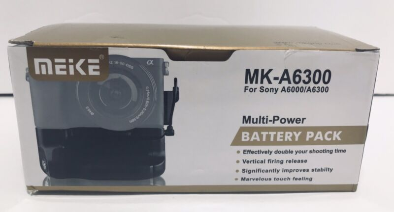Meike MK-A6300 Vertical Battery Grip Holder Pk for Sony A6300/A6000 DSLR Cam New