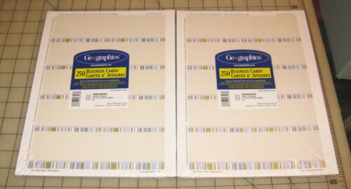 2 Geographics HABERDASHER Design 250-Ct BUSINESS CARDS Packs - NEW