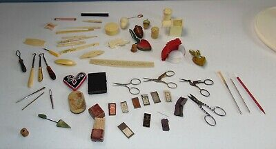 HUGE LOT! Assorted ANTIQUE SEWING ITEMS! Must See! LOT D