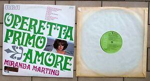 MIRANDA-MARTINO-DISCO-LP-33-GIRI-OPERETTA-PRIMO-AMORE-RCA-TCL1-1037