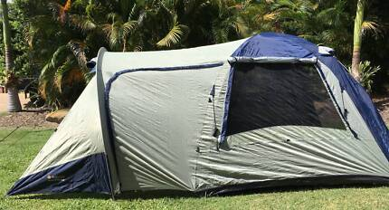 Oztrail Tasman 4V plus dome tent- as new - 4 person & 4 person dome tent and single air mattress | Camping u0026 Hiking ...