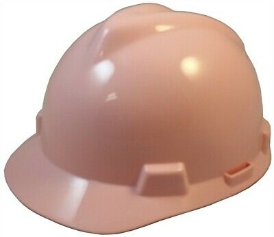 Msa V-gard Cap Style Hard Hat With Fas-trac Suspension - Light Pink