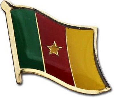 Wholesale Pack of 50 Cameroon Country Flag Bike Hat Cap lapel Pin