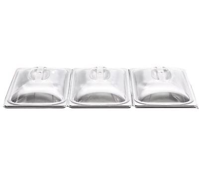 3 x SPARE REPLACEMENT LIDS FOR 3 PAN BUFFET WARMING FOOD SERVER WARM TRAY