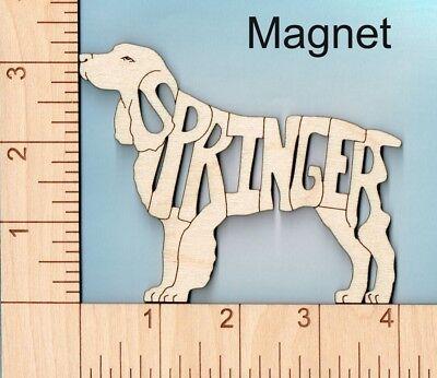English Springer Spaniel Dog laser cut and engraved wood Magnet
