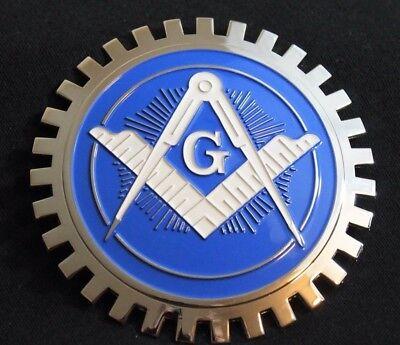 - Freemason Masonic Chrome Grille Badge Bumper License Topper Accessory Chrysler