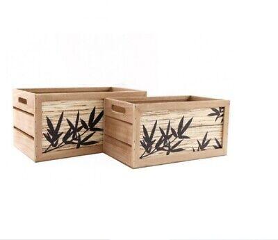 Conjunto De 2 Madera (MDF ) Almacenaje/Recuerdo - Cajas / - Bambú...