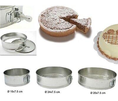Tris Teglia Alluminio Ciambella Anello per Torte con Fondo Removibile 3 pz