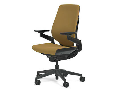 New Steelcase Gesture Chair Adjustable Cogent Connect Shell Black Frame Nugget