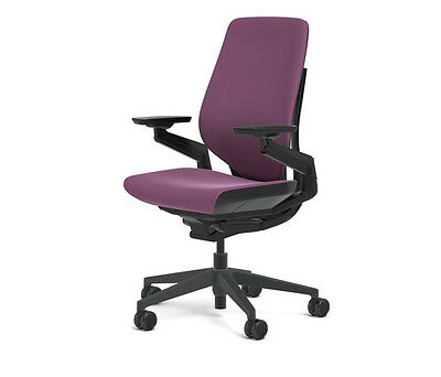 New Steelcase Gesture Chair Adjustable Cogent Connect Shell Black Frame Concord