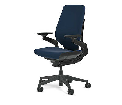 Steelcase Gesture Chair Adjustable Cogent Connect Shell Black Frame Blueprint