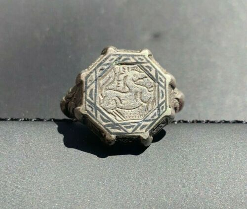 Islamic Silver Ring 12th Century Ottoman Aristocratic, with Cert of Authenticity