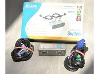D-Link 2 port KVM Switch
