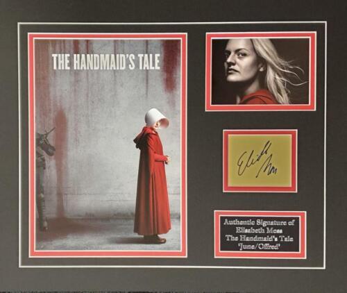 Elisabeth Moss The Handmaid's Tale signed mounted display AFTAL & UACC [17146]